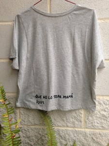 "Camiseta gris de algodón ""Don´t keep calm and let´s go spining"""